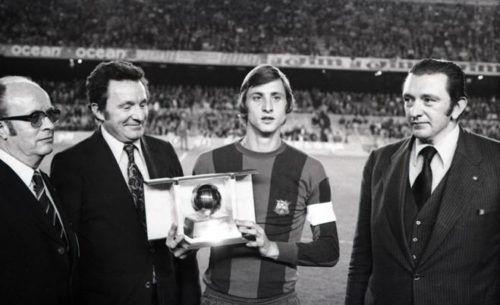 Johan Cruyff, Balón de Oro. Fuente: www.fcbarcelona.es