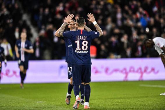 Mauro Icardi, Ángel Di Maria, Neymar, PSG, Lille, Ligue 1, argentinos, brasileño