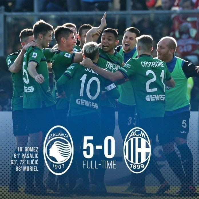Atalanta 5-0 Milan